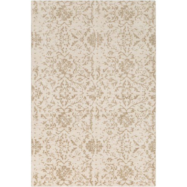 Ashton Hand-Knotted Camel/Khaki Area Rug by Bungalow Rose