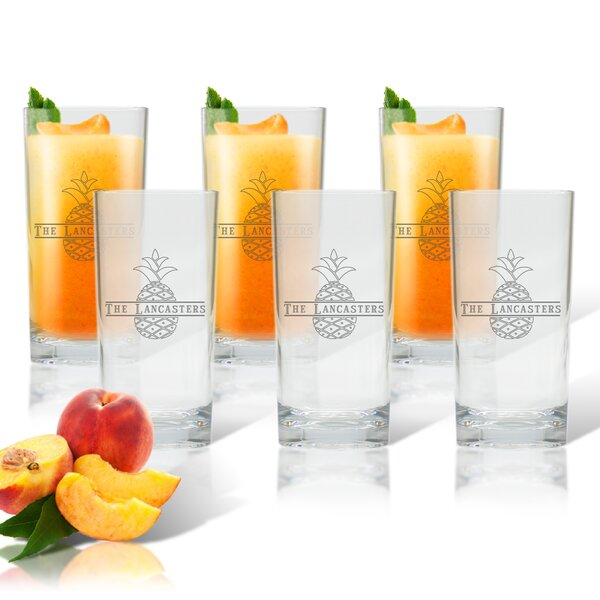Personalized Pineapple 15 oz. Highball Glass (Set of 6) by Carved Solutions
