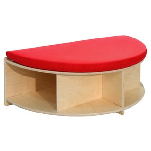 Read-A-Round Half Circle Wood Storage Bench