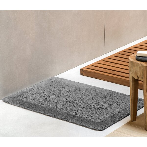 Alifa Rectangle 100% Cotton Reversible Bath Rug