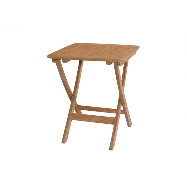 Bourassa Solid Wood Bistro Table by Freeport Park