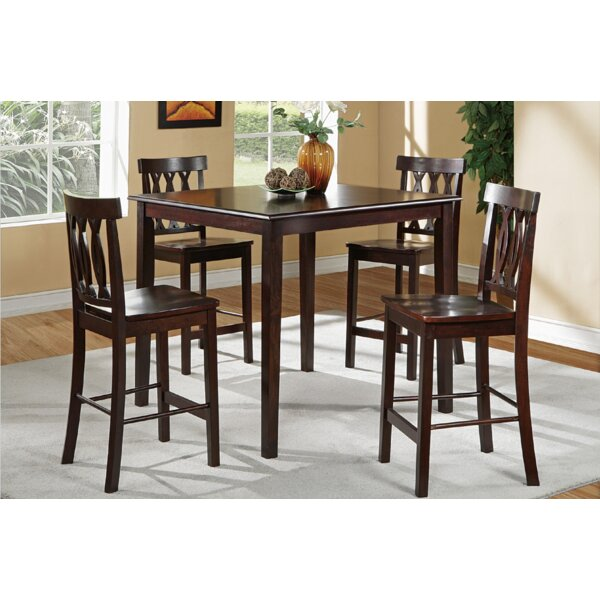 Malik 5 Piece Counter Height Dining Set by A&J Homes Studio