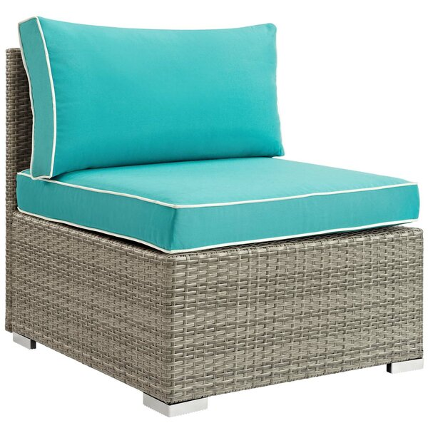 Heinrich Patio Chair with Cushion by Highland Dunes Highland Dunes