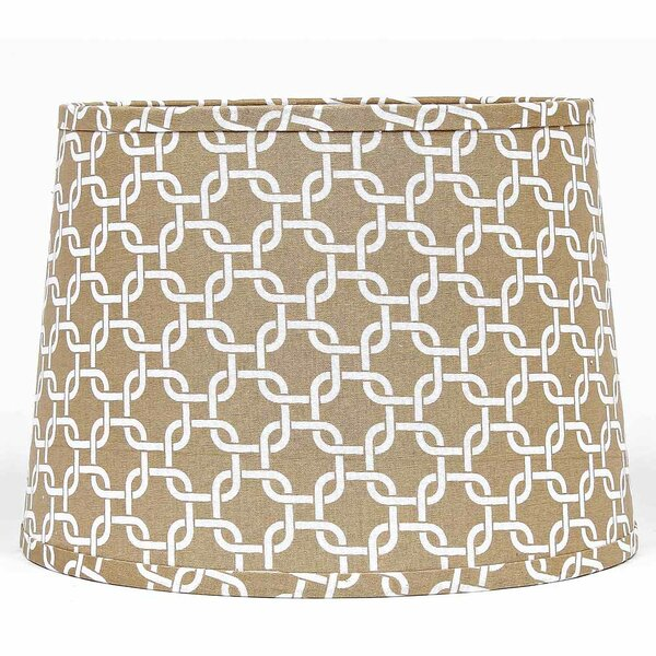 10 W Cotton Drum Lamp Shade ( Clip On ) in Cream