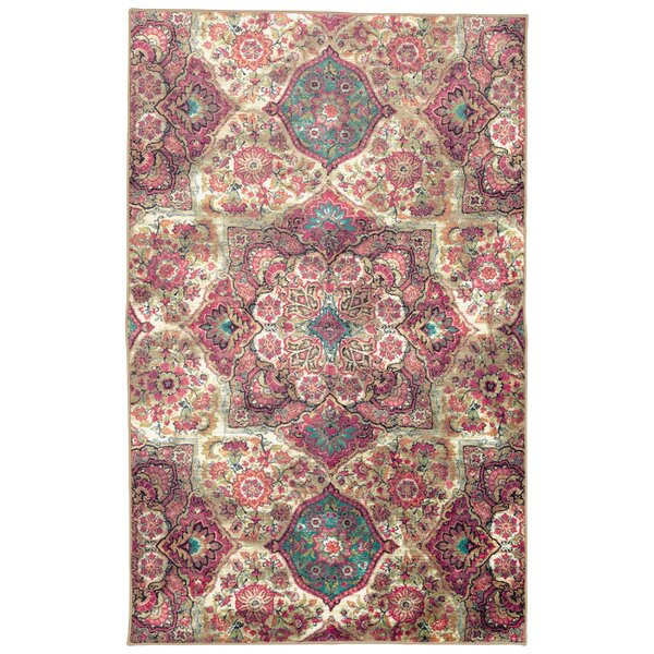 Asherman Purple/Pink/Cream Area Rug by Bungalow Rose