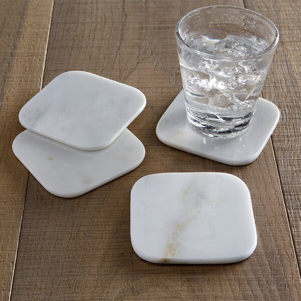 Marble Coaster Set (Set of 4) by Wade Logan
