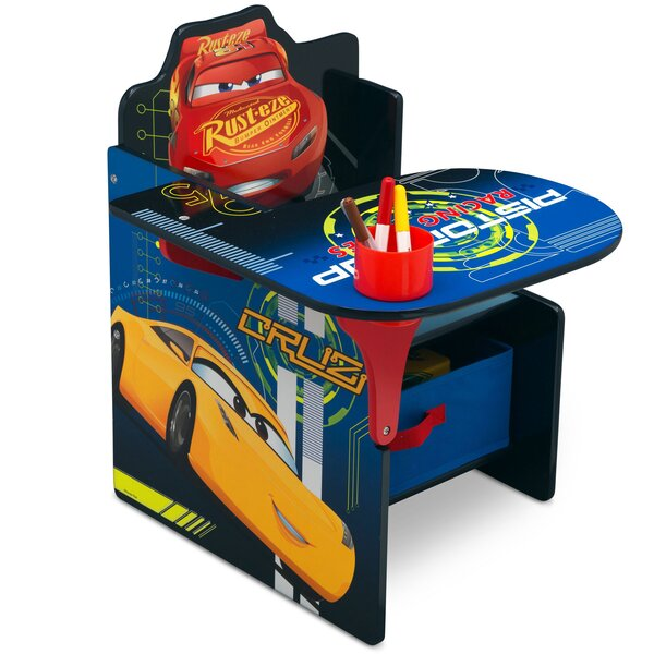 Disney/Pixar Cars Kids Chair Desk with Storage Compartment by Delta Children