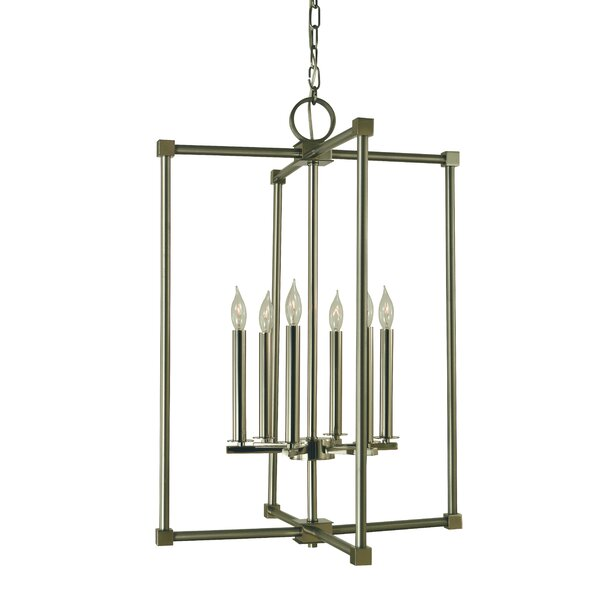 Elmo 6 - Light Candle Style Square / Rectangle Chandelier by Ivy Bronx Ivy Bronx