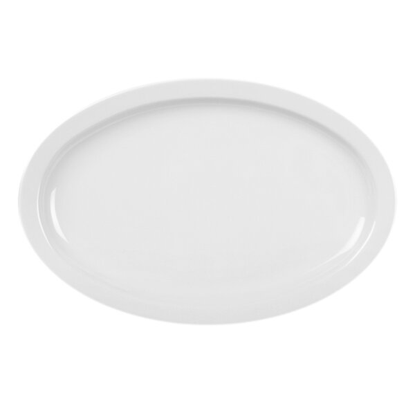 Ada Oval Platter with Narrow Rim (Set of 12) by Winston Porter