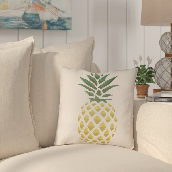 Brookwood Pineapple Indoor/Outdoor Throw Pillow by Bay Isle Home