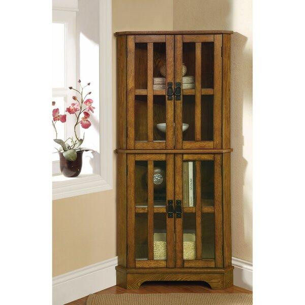 Van Nest Corner Curio Cabinet by Millwood Pines