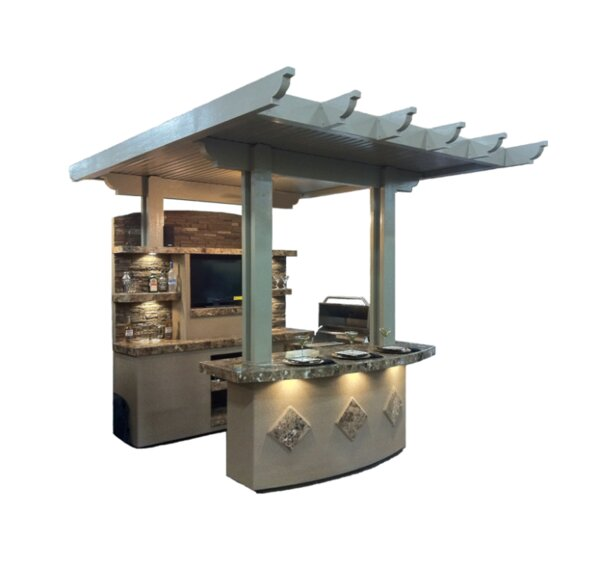 St Croix BBQ Island Outdoor Kitchen 4-Burner Built