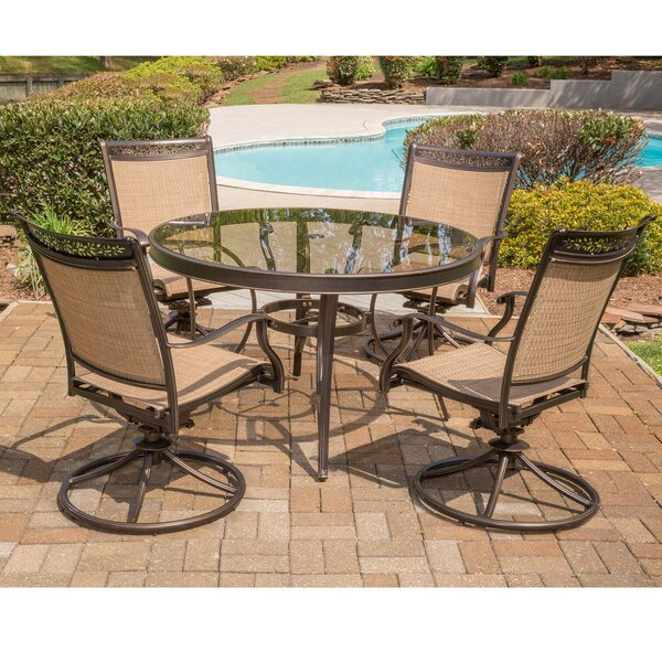 Bucher 5 Piece Dining Set by Fleur De Lis Living