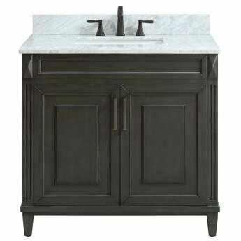 Potvin Marble Top 37 Single Bathroom Vanity Set by Gracie Oaks
