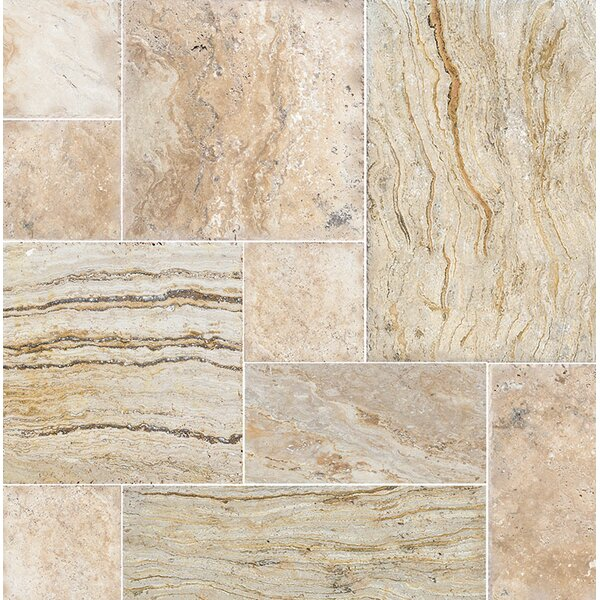 Laguna Random Sized Travertine Field Tile in Beige by Parvatile
