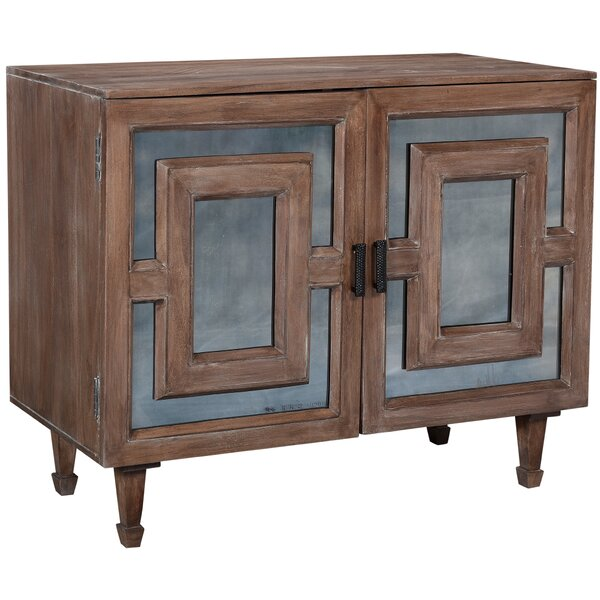 Raj 2 Door Mirrored Accent Cabinet
