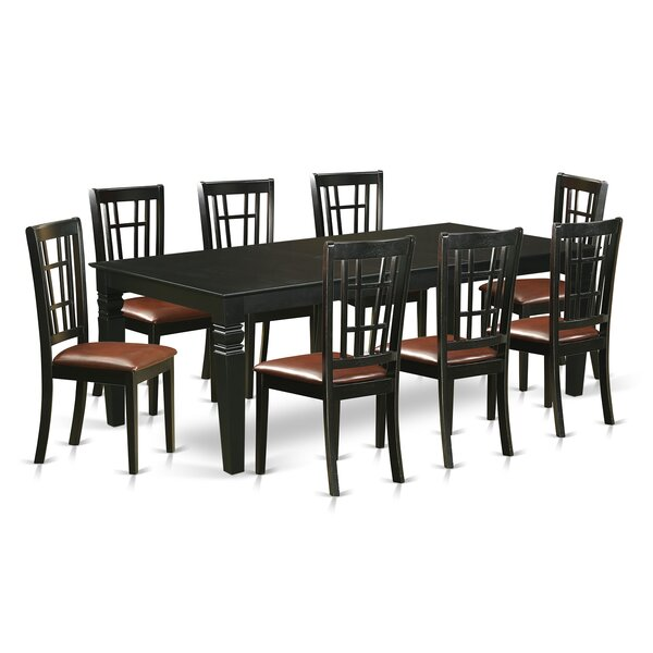Beesley 9 Piece Rectangular Hardwood Dining Set by Darby Home Co