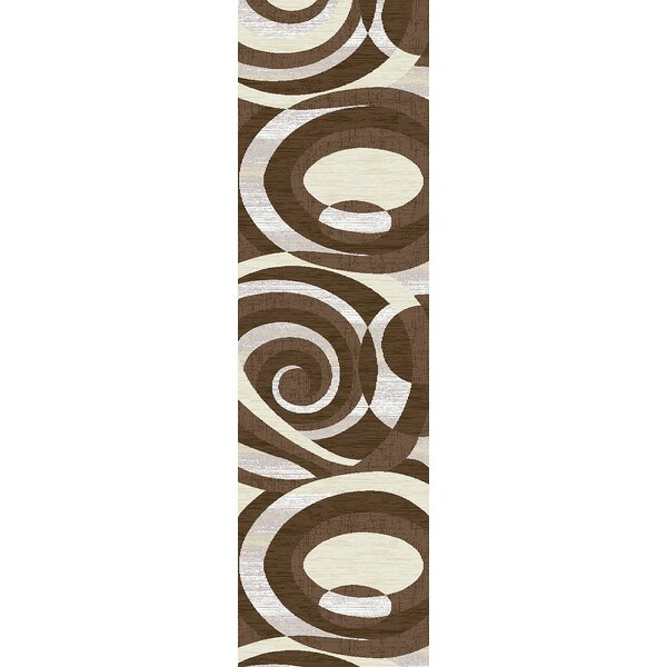 Mccampbell 3D Abstract Brown/Gray Area Rug by Ivy Bronx