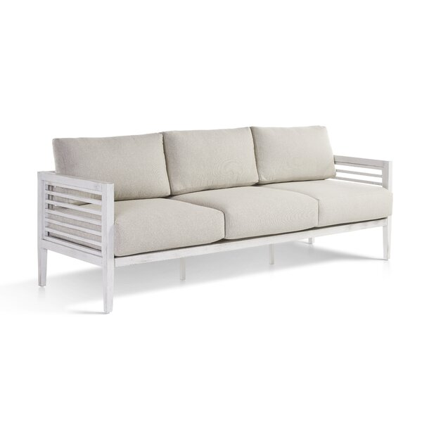 Mciver Patio Sofa with Cushions by Rosecliff Heights