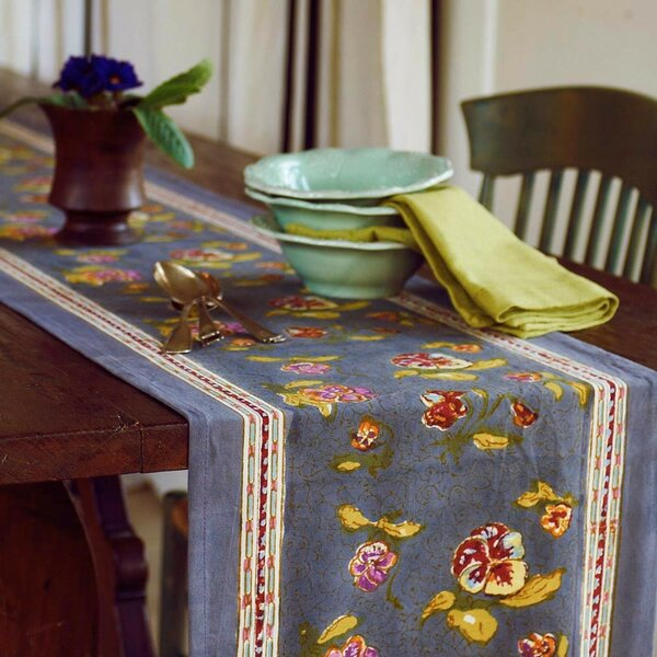 Pansy Table Runner by Couleur Nature