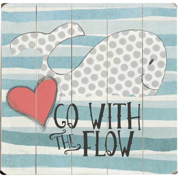 Go with the Flow Painting Print Multi-Piece Image on Wood by Artehouse LLC