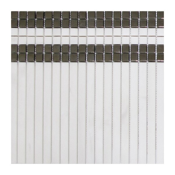 Artemis 5 x 8 Marble Mosaic Tile in White by Seven Seas