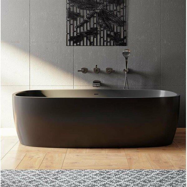 Coletta 71 x 36 Freestanding Soaking Bathtub by Aquatica