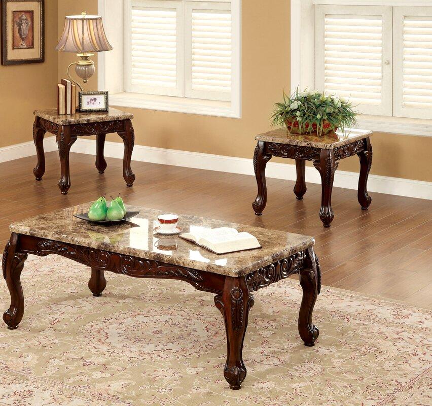 astoria grand albertus 3 piece coffee table set & reviews | wayfair