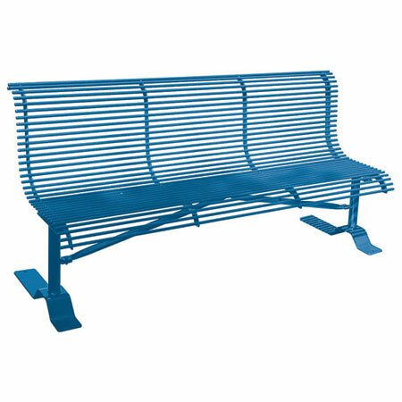 Rod Steel Park Bench by Leisure Craft