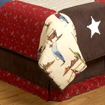 Wild West Cowboy Queen Bed Skirt by Sweet Jojo Designs