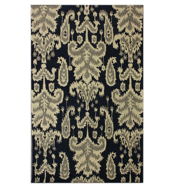 Marbella Verden Hand-Tufted Wool Navy Area Rug by nuLOOM
