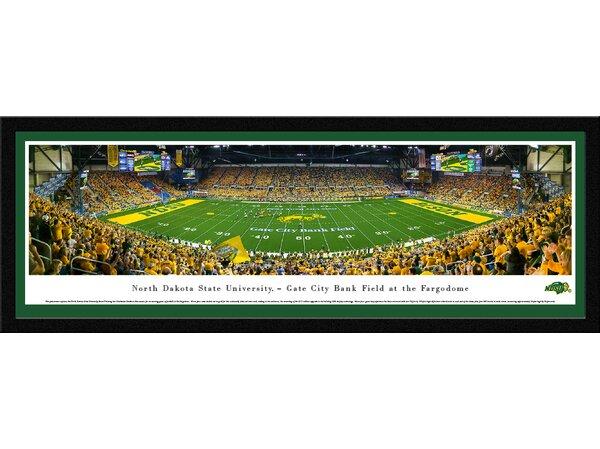 NCAA North Dakota State Football 50 Yard Line Framed Photographic Print by Blakeway Worldwide Panoramas, Inc