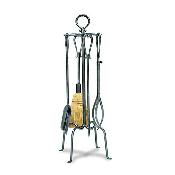 4 Piece Wrought Iron Fireplace Tool Set by Minuteman International