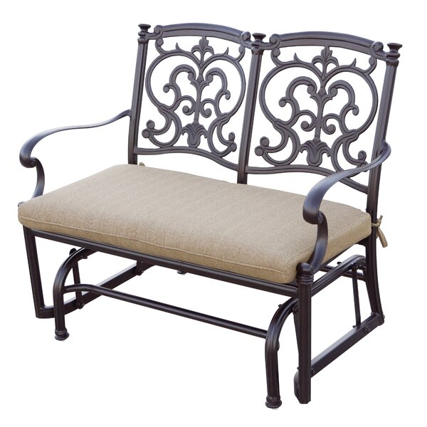 Batista Glider Bench with Cushion by Fleur De Lis Living