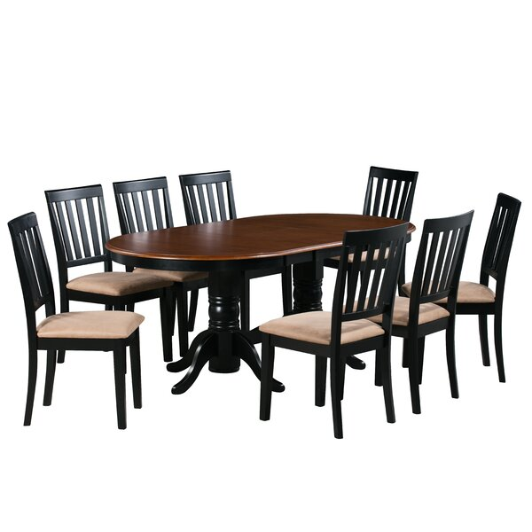 Inwood 9 Piece Extendable Solid Wood Dining Set by Darby Home Co