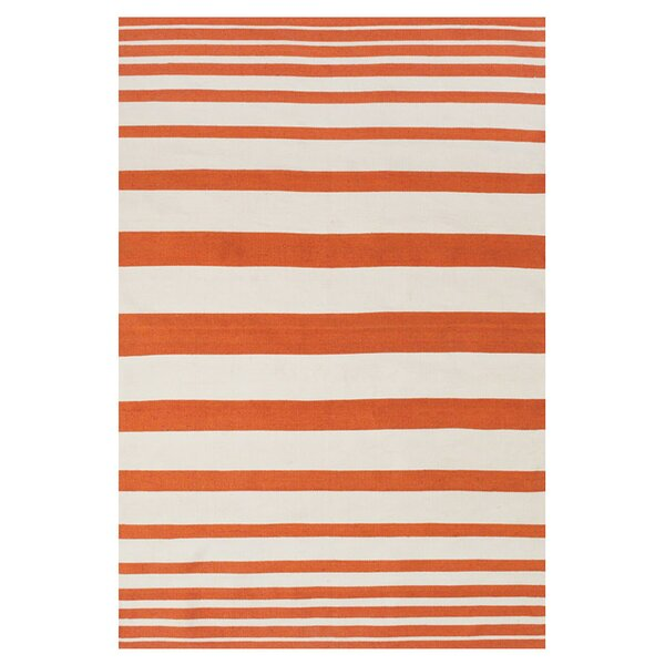 Carrizal Indoor/Outdoor Area Rug in Orange by Ebern Designs