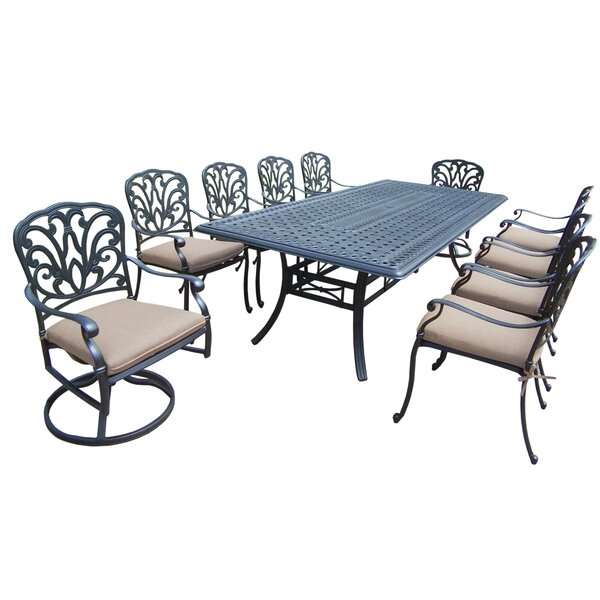 Bosch 11 Piece Dining Set with Cushions by Darby Home Co