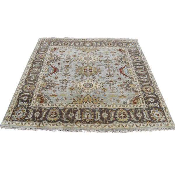 One-of-a-Kind Newhouse Oriental Hand-Knotted Green Area Rug by Astoria Grand