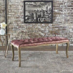 Burcham Velvet Bench by Fleur De Lis L..