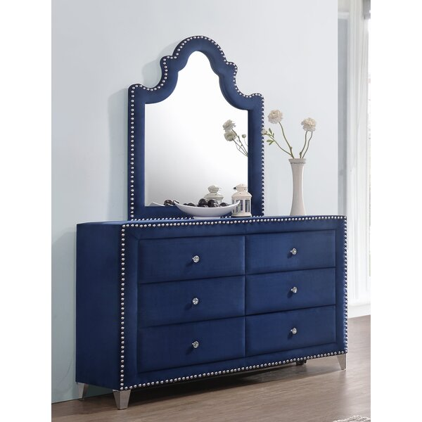 Malone 6 Drawers Double Dresser with Mirror by Rosdorf Park