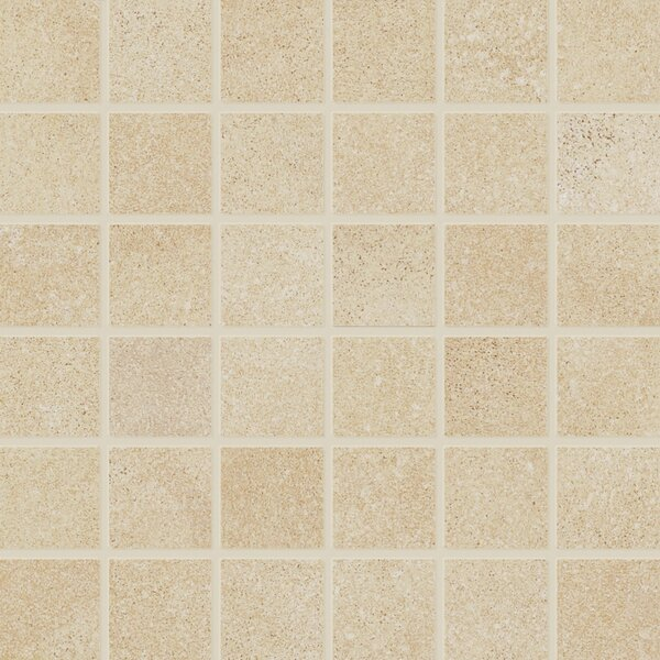 Central Station 2 x 2 Porcelain Mosaic Tile in Chardonnay by PIXL
