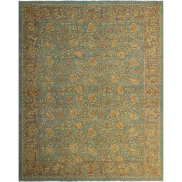 One-of-a-Kind Bodrum Hand-Knotted Wool Blue/Brown Area Rug by Canora Grey