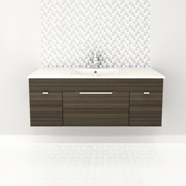 Textures 48 Wall Mounted Single Bathroom Vanity Se