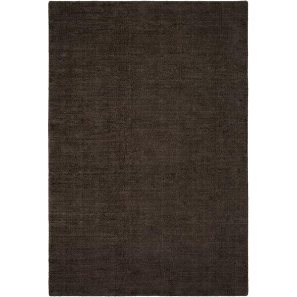 Laraine Hand-Loomed Black/Brown Area Rug by Williston Forge