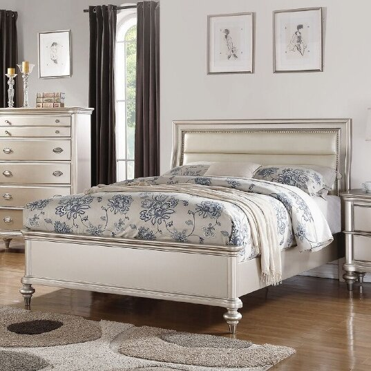 Tiya Upholstered Standard Bed by House of Hampton