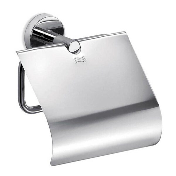 Gealuna Wall Mount Toilet Paper Holder with Lid by WS Bath Collections