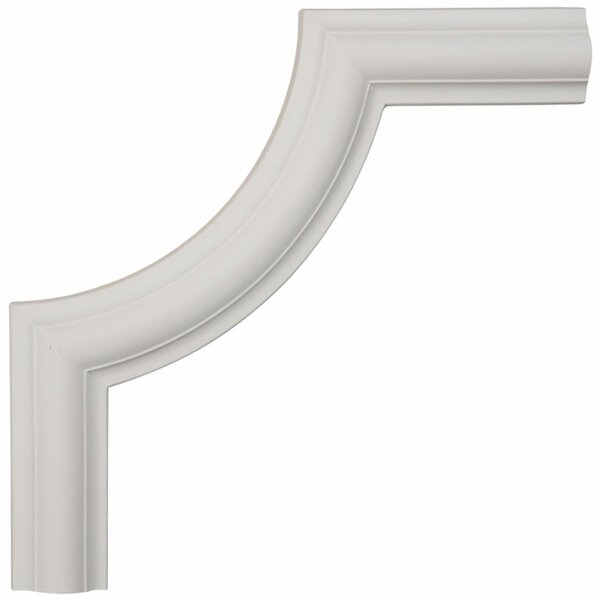 Ashford 10H x 10W x 1/2D Smooth Panel Moulding Corner by Ekena Millwork