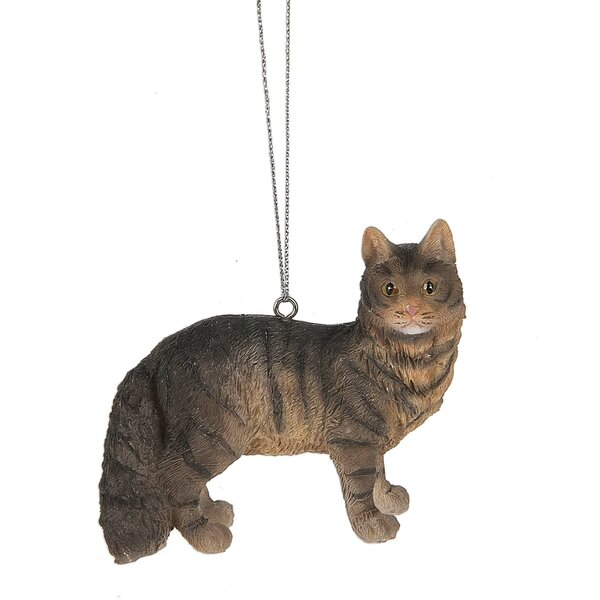 Maine Coon Cat Hanging Figurine by The Holiday Ais