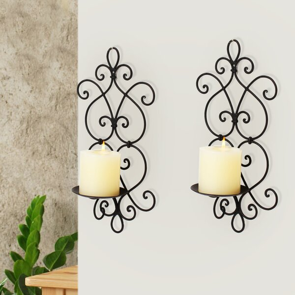 Iron Sconce (Set of 2) by Adeco Trading
