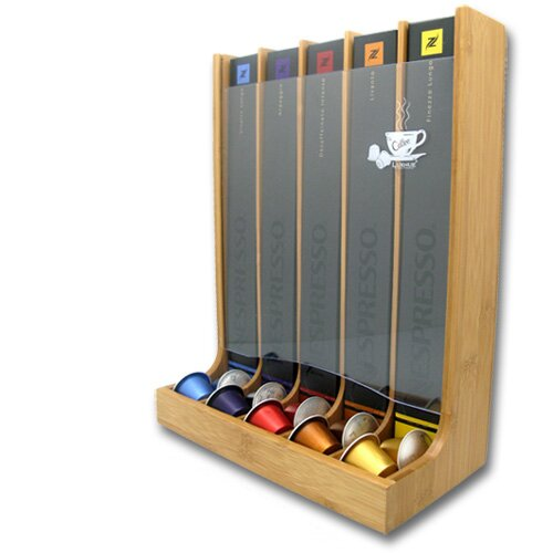 Vue Bamboo 5 Section Nespresso Capsule Organizer Tower by Vandue Corporation